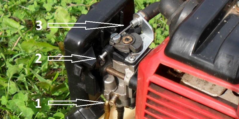 Карбюратор бензинового триммера PRORAB-8406