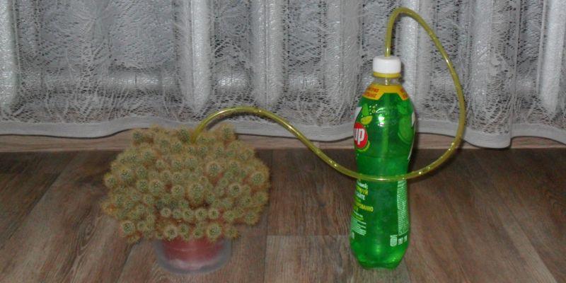 Самодельное устройство для полива комнатных растений
