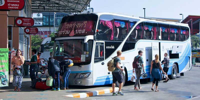 Автобусная станция Чианг Май в Таиланде