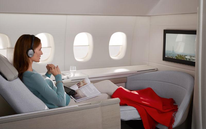 Салон первого класса авиакомпании Air France