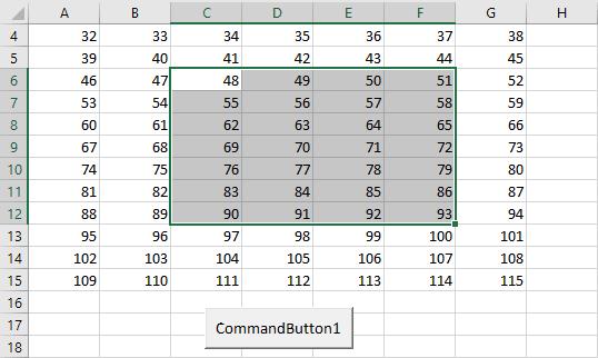 Выделенный диапазон для выбора случайной ячейки