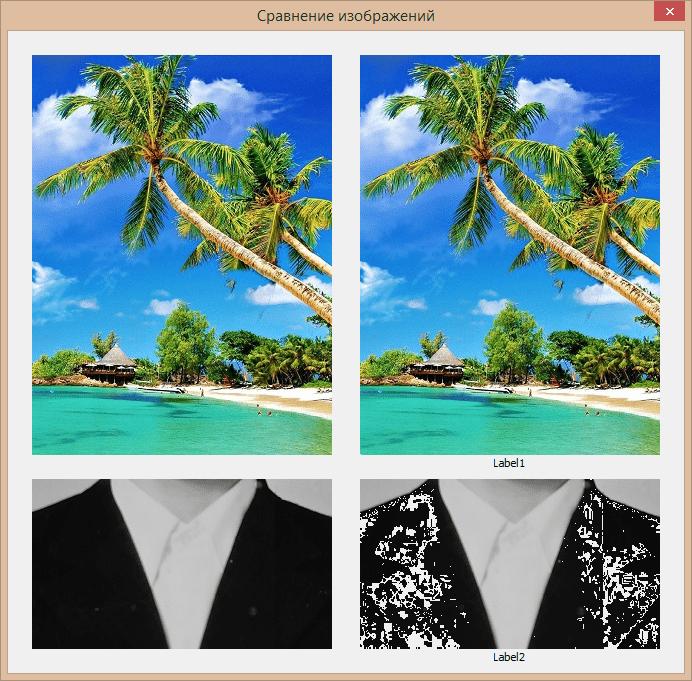 Сравнение изображений на элементах управления Image и Label